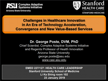 Featured Keynotes – Dr  George Poste, CEO